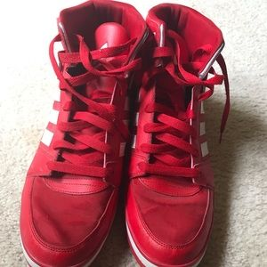 Used Sz. 13 Red Adidas Sneakers